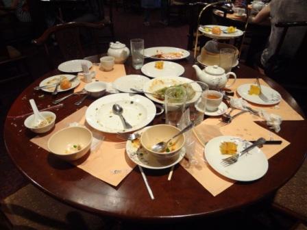 All plates empty